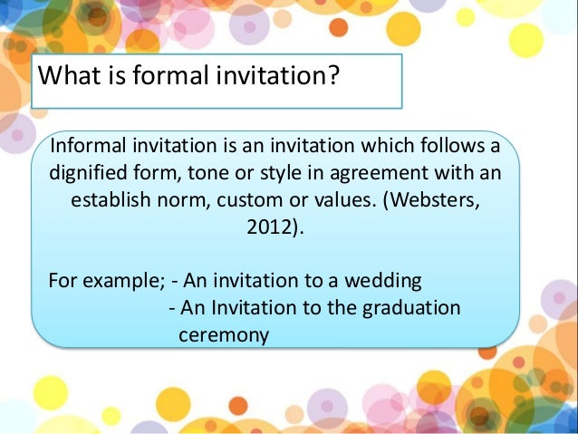 Formal And Informal Invitation Kls  Kurikulum