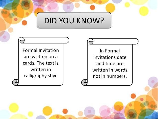 Informal invitation vatozozdevelopment informal invitation stopboris Image collections