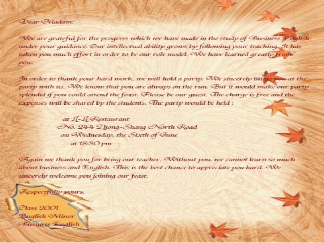 Formal And Informal Invitation Kls Kurikulum - Informal invitation letter to a birthday party