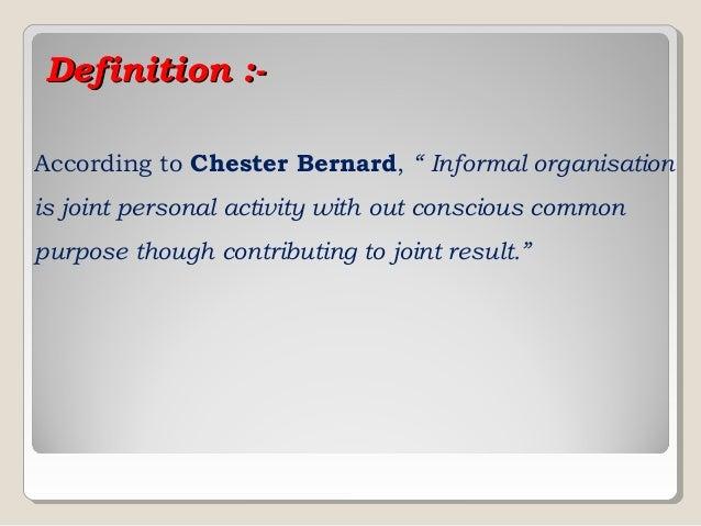 Essays formal informal organization