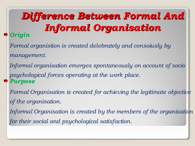 difference between formal and informal groups Both of these types of inductive arguments use the properties shared by members of a group to inductive arguments can be either formal or informal formal inductive arguments tend to the similarities between these two forms of argument are far important than any differences between.