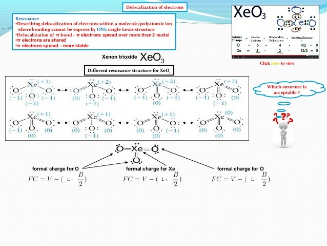 IB Chemistry on Resonance, Delocalization and Formal Charges
