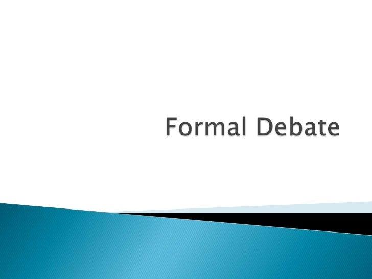 Formal Debate<br />