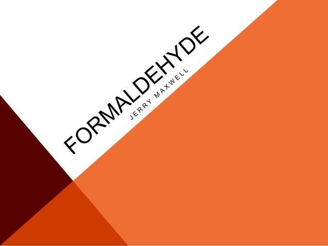 THE DISCOVERY OF FORMALDEHYDE A L E X A N D E R B U T L E R O V A U G U S T W I L H E L M V O N H O F M A N N