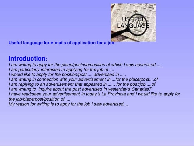 how to send email applying for a job