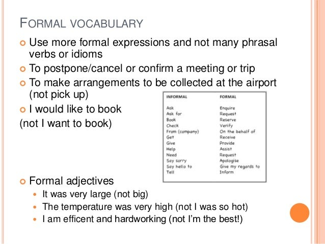 Formal emails and letters formal vocabulary use altavistaventures Image collections