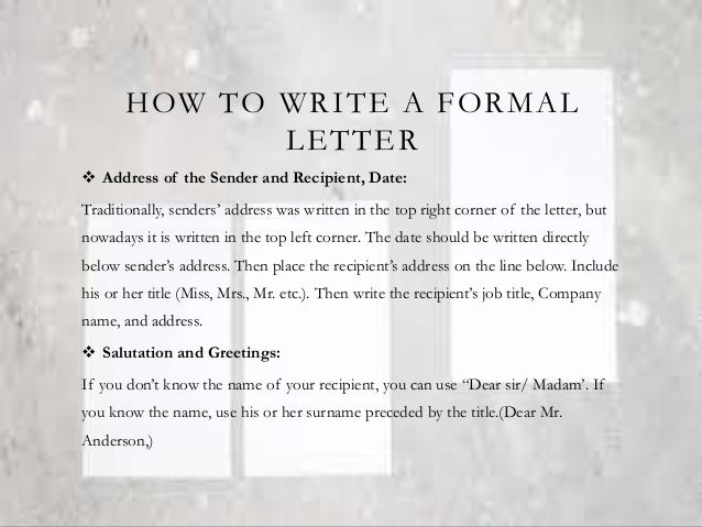 Formal and informal letter and card 5 how to write a formal letter altavistaventures Gallery