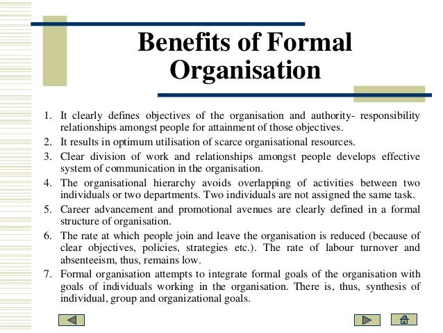 formal and informal teams Informal communication and awareness in virtual teams  why informal communication and awareness are  group was able to use both formal and informal.