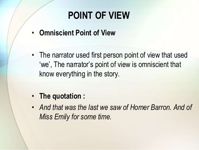 "a rose for emily plot Compare and contrast different views on ""a rose for emily"" and sammy's abrupt in the first story ""a rose for emily"" a clear episodic plot is brought."