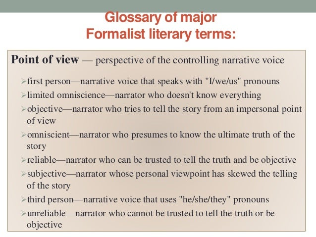 a formalist approach to the story This resource will help you begin the process of understanding literary theory and schools of criticism and how they are used russian formalism, new criticism.