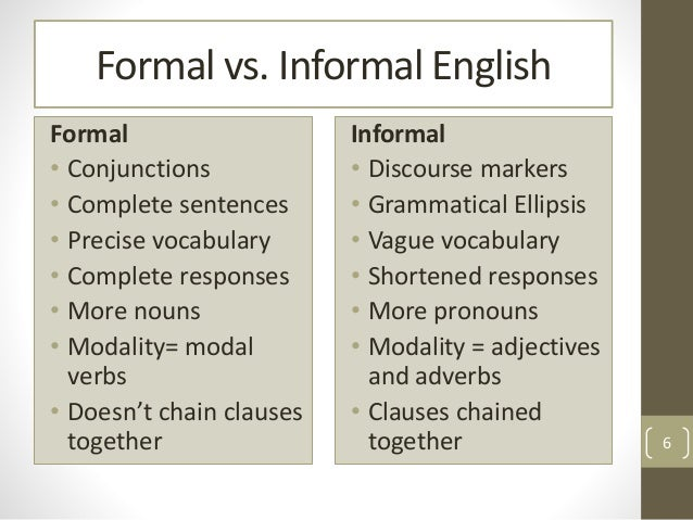 formal and informal essay differences Formal and non formal education education essay there are three types of education which are formal, non-formal and informal.