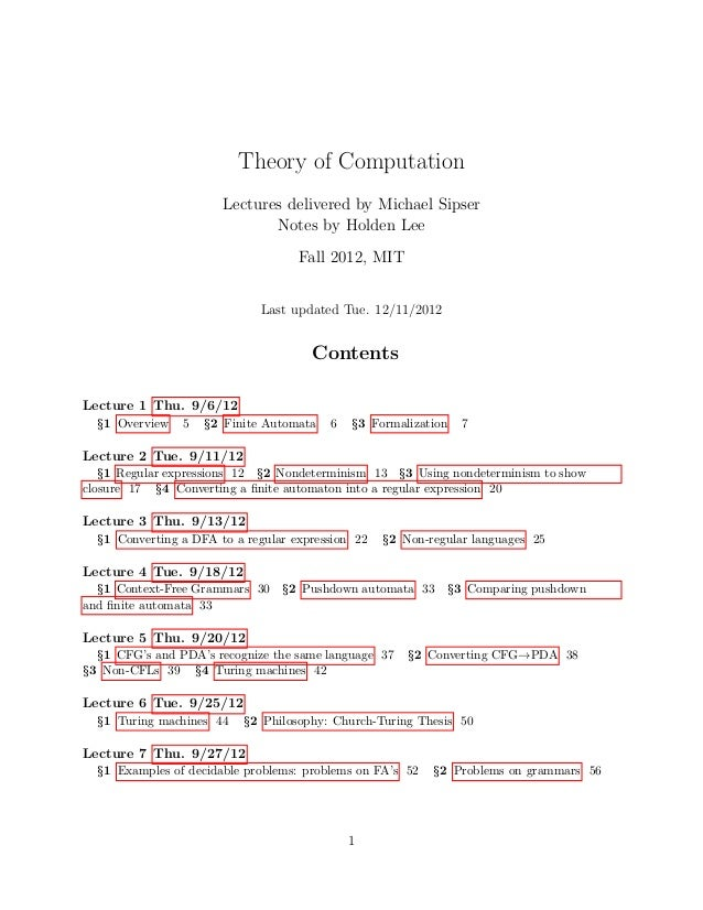 automata theory This graduate level course is more extensive and theoretical treatment of the material in computability, and complexity (6045j / 18400j) topics include automata.
