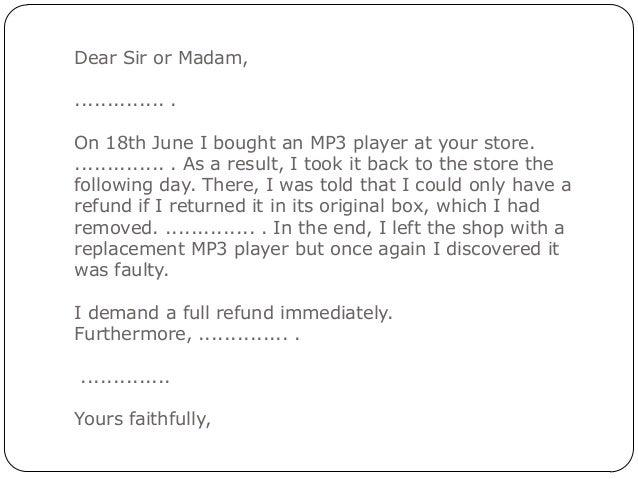 Formal Letter Of Complaint1
