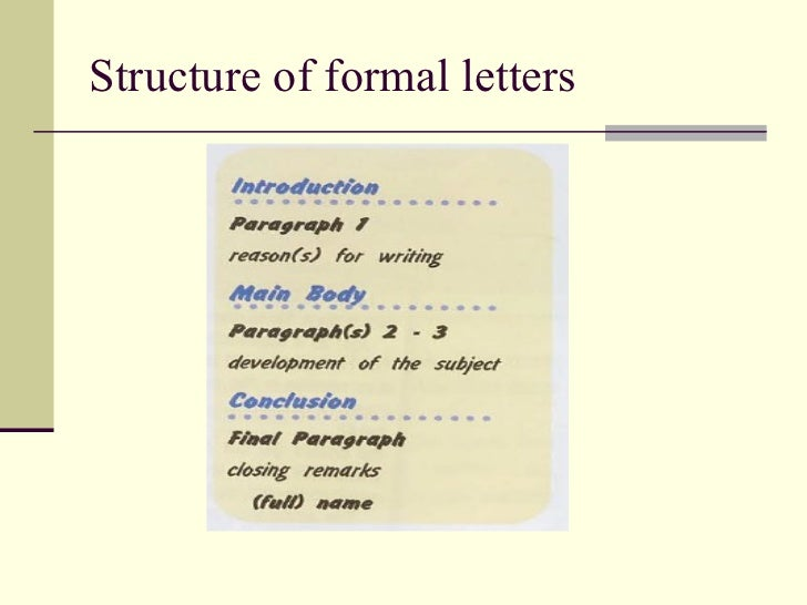 characteristics of formal letters 4 structure of formal letters