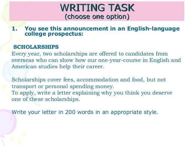 writing taskwriting