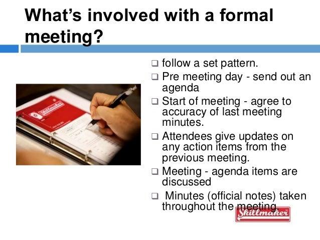 formal meeting agenda