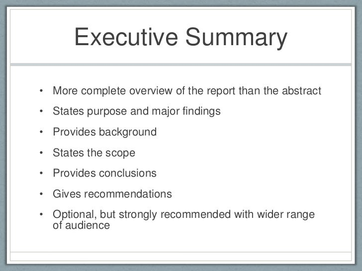 justification recommendation reports