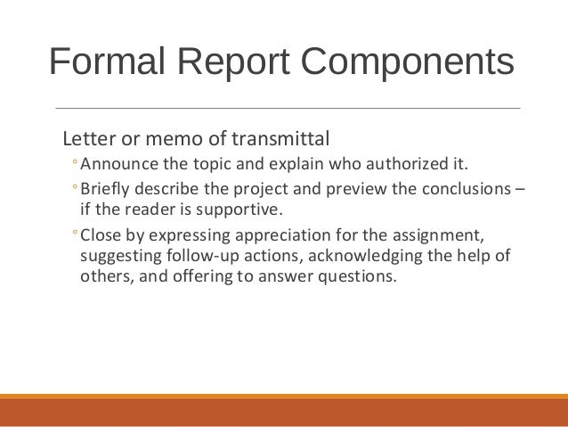 Formal reports formal report components 37 letter or memo of transmittal spiritdancerdesigns Choice Image