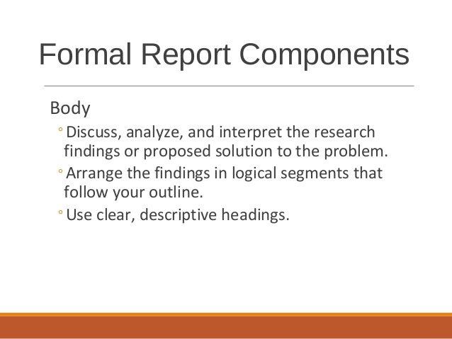 formal report outline