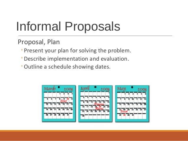 Formal reports – Informal Proposal