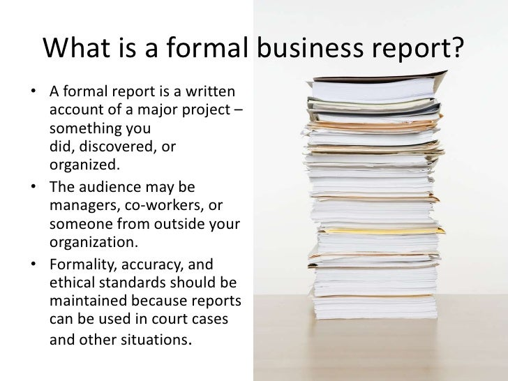 Formal Reports 1 – Sample Formal Business Report