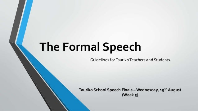 how to start a formal speech for school
