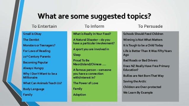some topics for speech