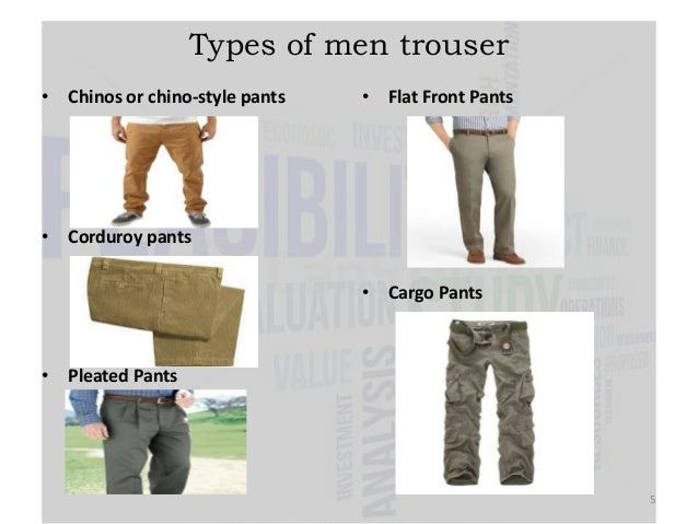 Types Of Pants For Men - Pi Pants