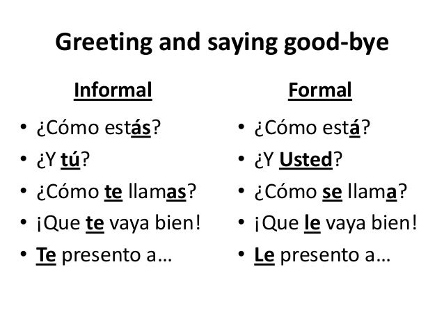Formal vs informal greeting m4hsunfo