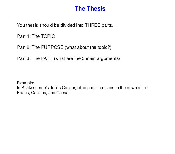 3 part divided thesis