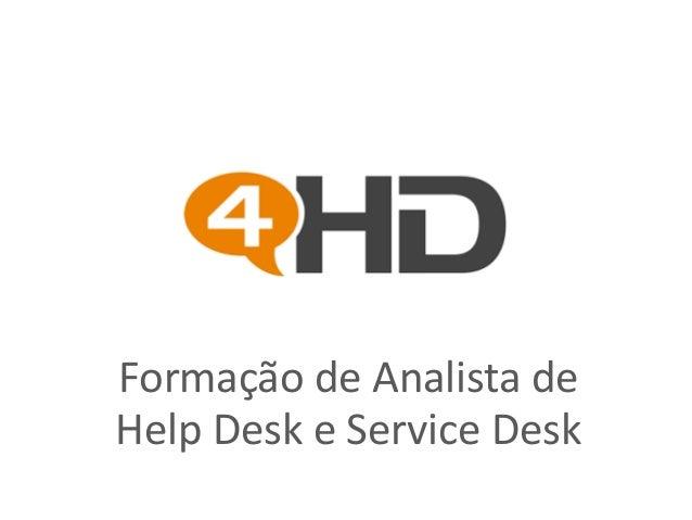 Formação de Analista de Help Desk e Service Desk