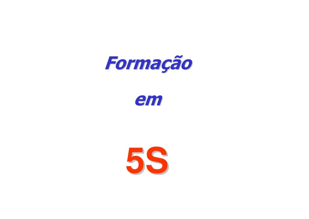 Formação   em    5S