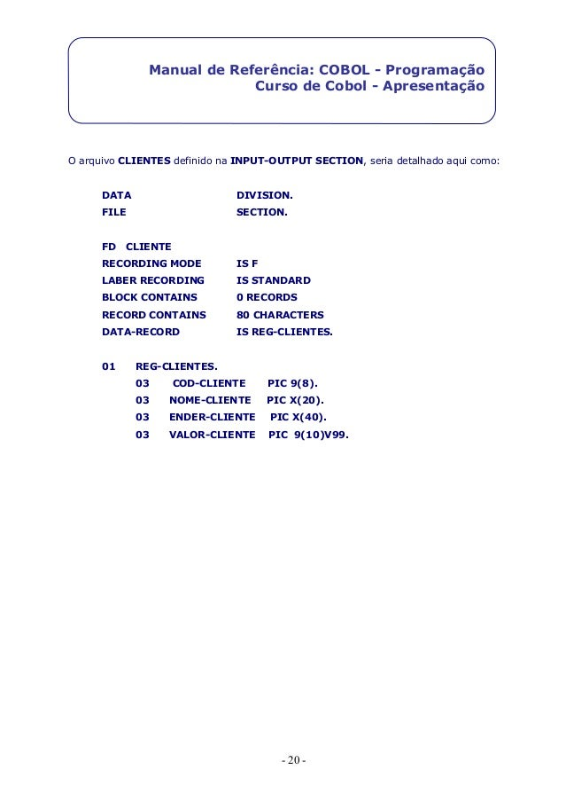 Cobol Ibm manual pdf
