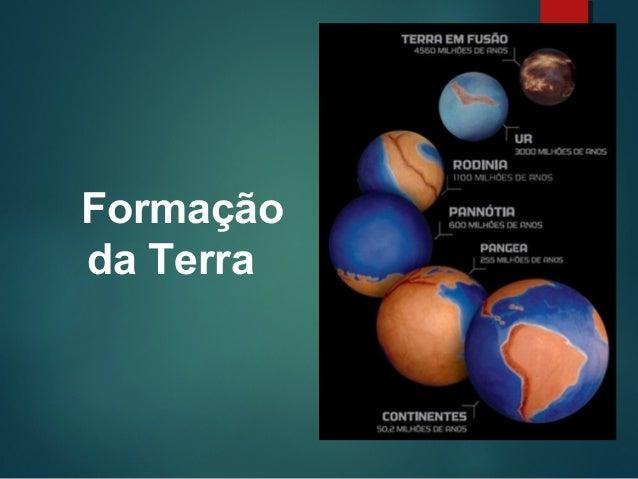 I Formação Dos Coroinhas: Formação Da Terra E O Tectonismo
