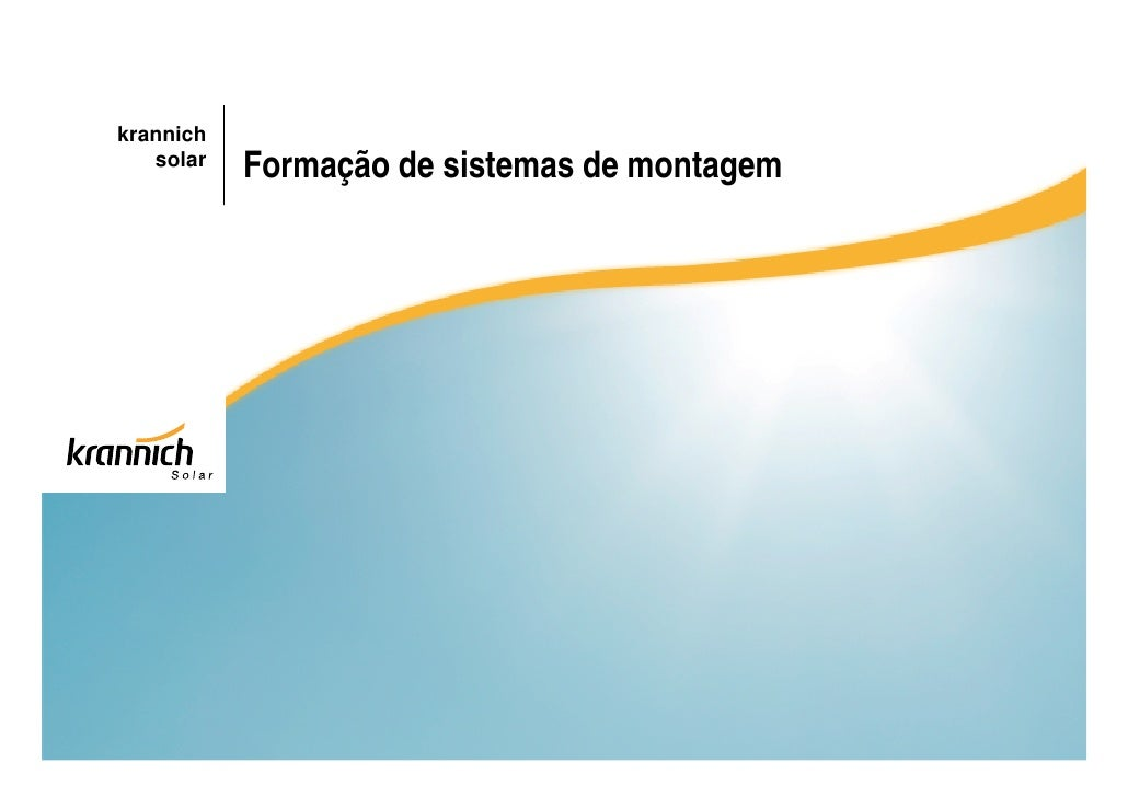 krannich   solar   Formação de sistemas de montagem
