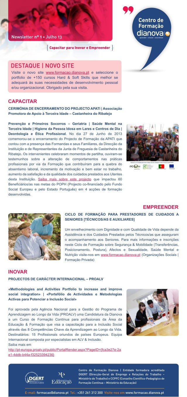 Formação dianova newsletter 1 julho 2013