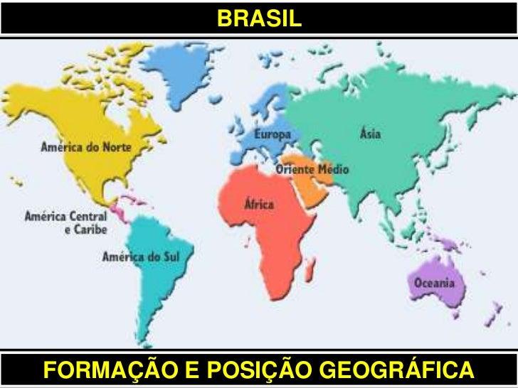 BRASILFORMAÇÃO E POSIÇÃO GEOGRÁFICA