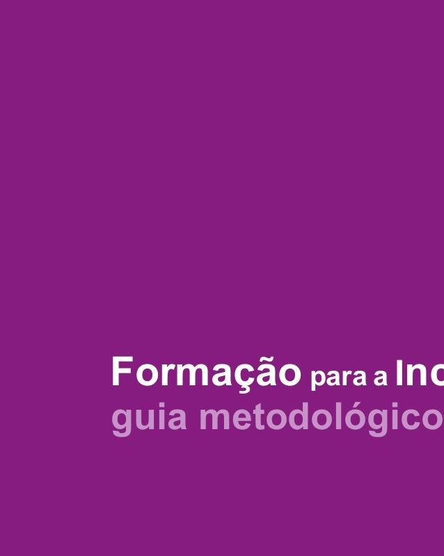 guia metodológico Formação para a Inc