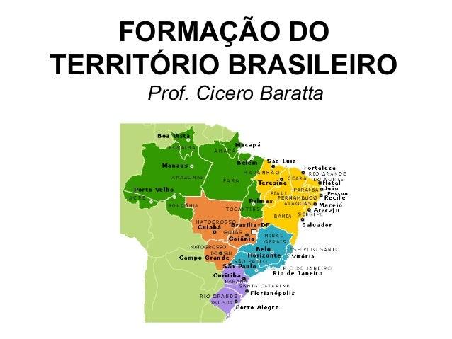 I Formação Dos Coroinhas: Formação Territorial
