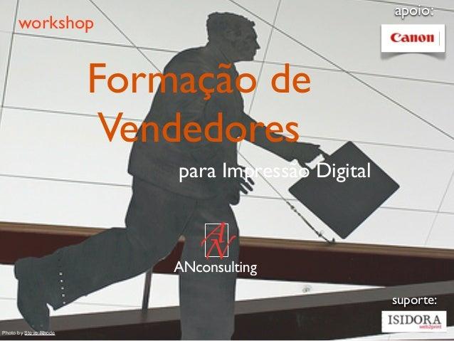 apoio:      workshop                       Formação de                        Vendedores                           para Im...