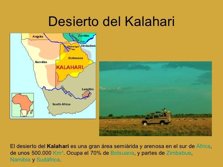Desierto De Kalahari Mapa.Formas Del Relieve Terrestre 1