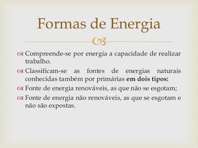 Formas De Energia E Transformação De Energia