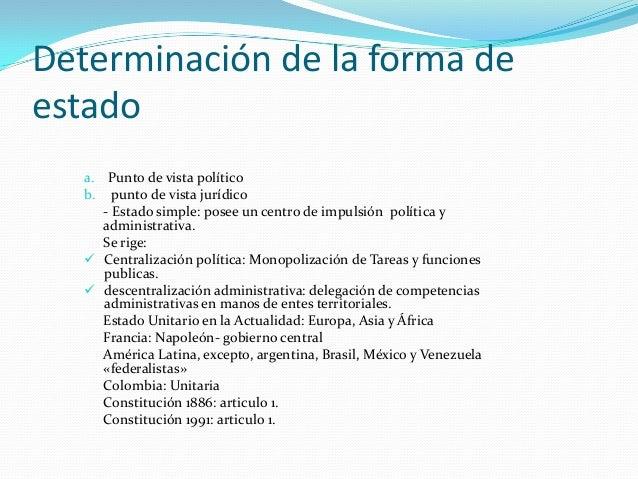 Formas de Estado y de Gobierno