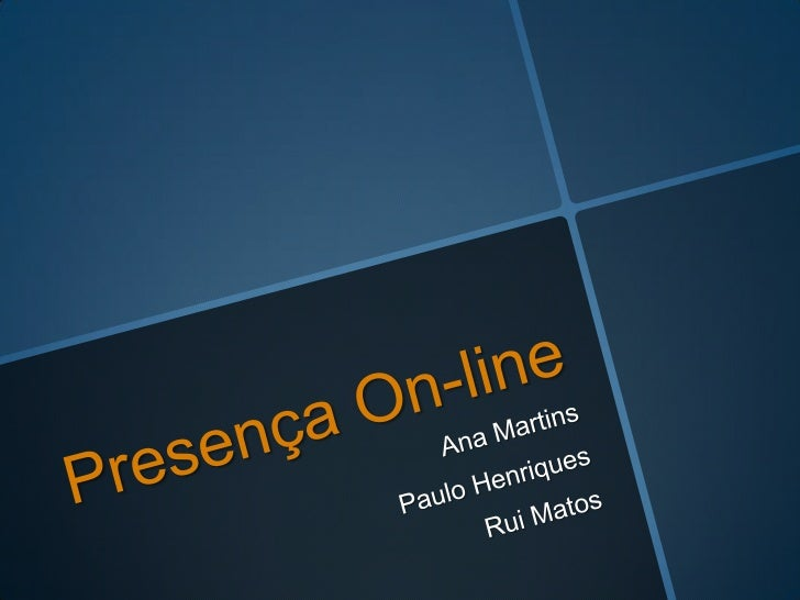 Formas de presença online