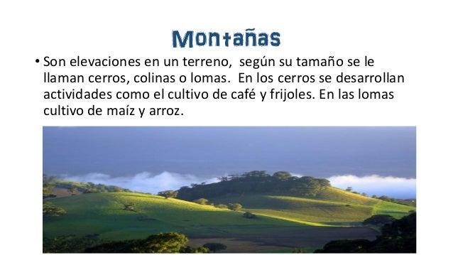 Las Formas De Relieve: Formas De Relieve De Costa Rica