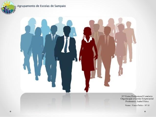 11º Curso Profissional Comércio Organização e Gestão Empresarial Professora : Isabel Paiva Nome : Vasco Pinho – Nº 10