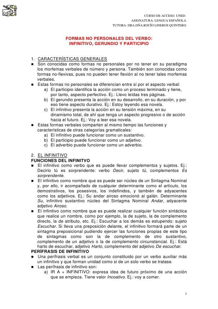 CURSO DE ACCESO. UNED.                                                    ASIGNATURA: LENGUA ESPAÑOLA.                    ...