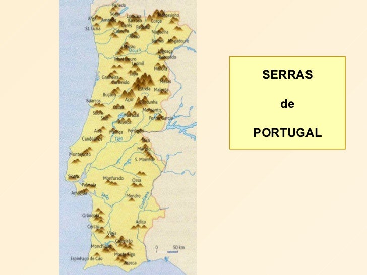 mapa de portugal com as serras Mapa Das Principais Serras De Portugal | thujamassages mapa de portugal com as serras