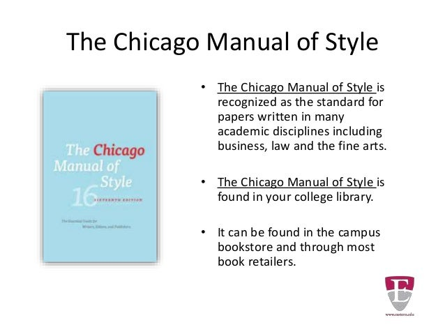 chicago manual style research paper format The following are sample chicago-style citations for commonly if a book is available in more than one format a manual for writers of research papers.
