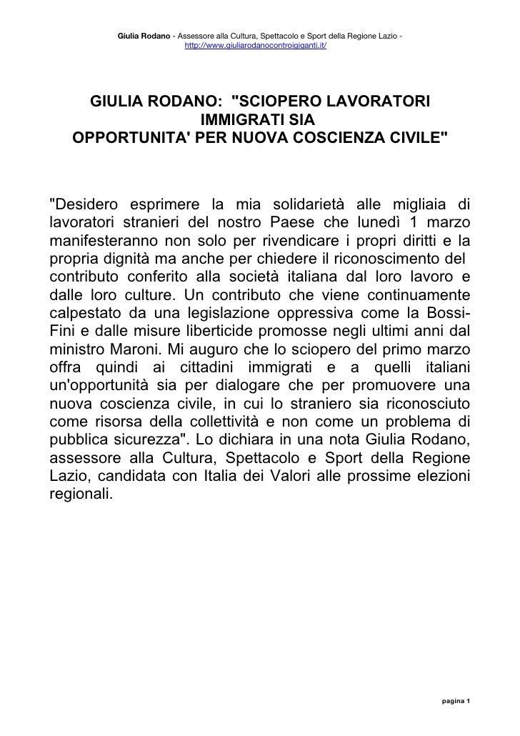Giulia Rodano - Assessore alla Cultura, Spettacolo e Sport della Regione Lazio -                            http://www.giu...